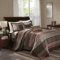 Madison Park Dartmouth Red 5 Piece Jacquard Bedspread Set