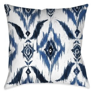 Laural Home Abstract Indigo Indoor/Outdoor Decorative Pillow