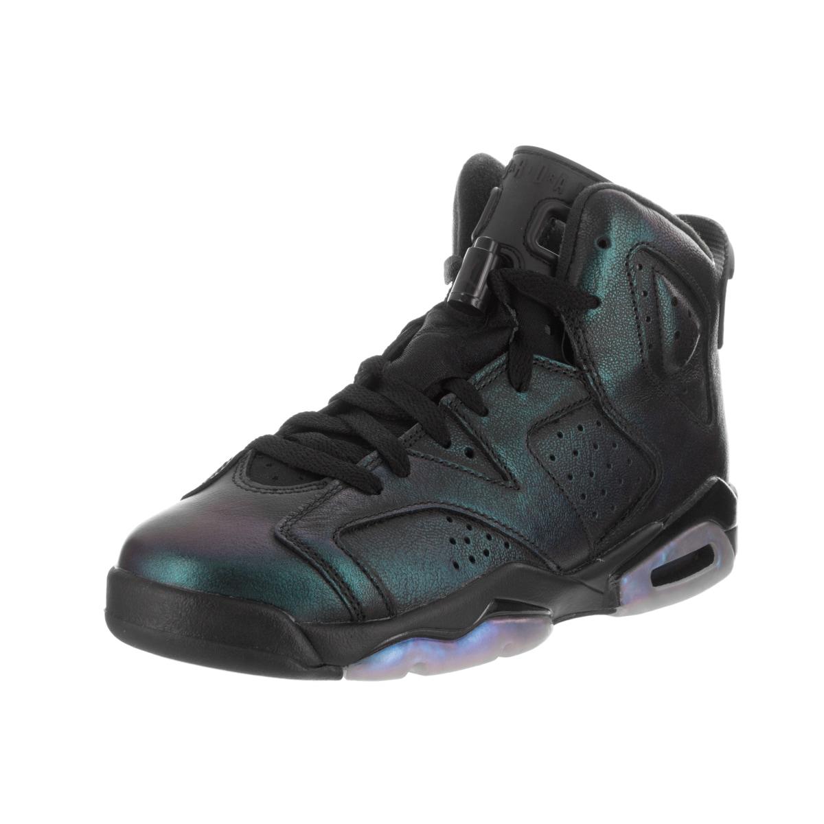 Nike Kids Air Jordan 6 Retro AS BG Basketball Shoe (5), Boy's, Black (leather)