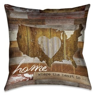Laural Home Home Is Where The Heart Is Indoor/Outdoor Decorative Pillow