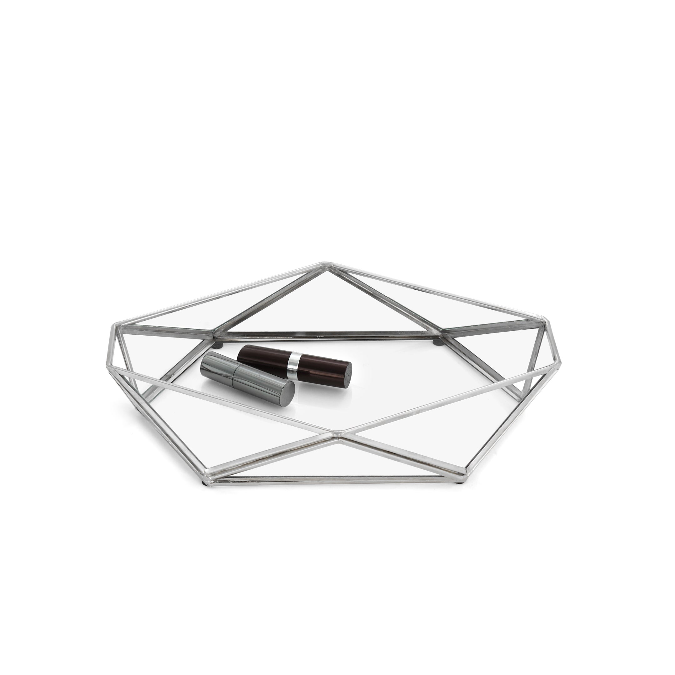 Paradigm Trends Prism Storage Tray (Silver), Clear (Brass)