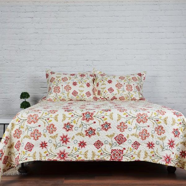 Cassie 3-piece Printed Quilt Set