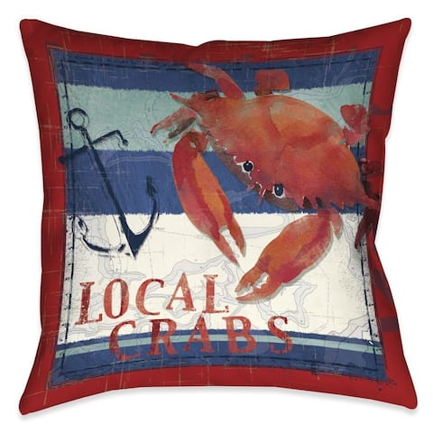 Laural Home Local Crabs Indoor/Outdoor Decorative Pillow
