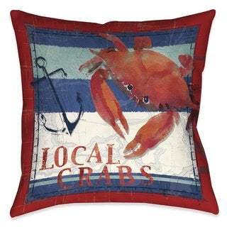 Laural Home Local Crabs Indoor/Outdoor Decorative Pillow (2 options available)