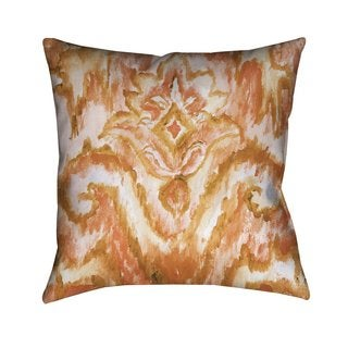 Laural Home Eclectic Coral Ikat Indoor- Outdoor Decorative Pillow
