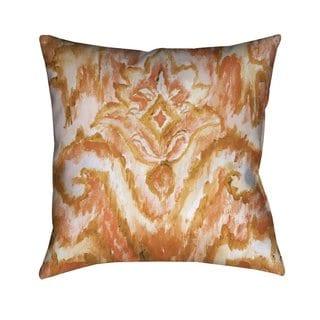 Laural Home Eclectic Coral Ikat Indoor  Outdoor Decorative Pillow
