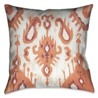 Laural Home Coral Tie Dye Indoor- Outdoor Decorative Throw  Pillow 18-inch