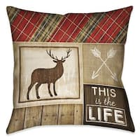 Laural Home Rustic Cabin IV Indoor/Outdoor Decorative Pillow