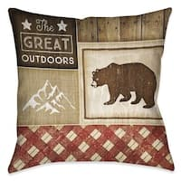 Laural Home Rustic Cabin III Indoor/Outdoor Decorative Pillow
