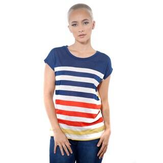 Women's Casual Stripe T-Shirt Short Sleeve Top