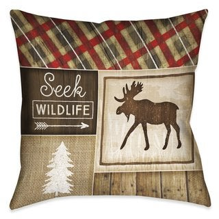 Laural Home Rustic Cabin II Indoor/Outdoor Decorative Pillow