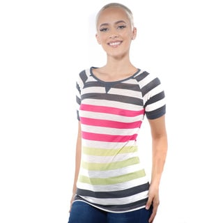 Women's Casual Stripe T-Shirt Short Sleeve Top