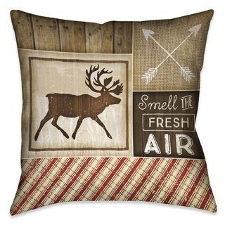 Laural Home Rustic Cabin I Indoor/Outdoor Decorative Pillow