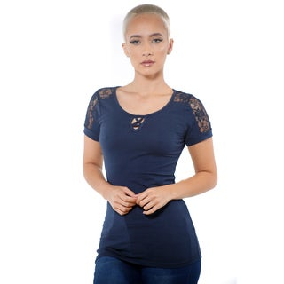 Women's Short Sleeve Lace Top