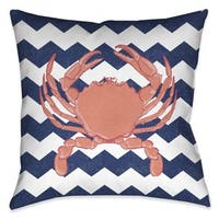 Laural Home Chevron Crab Indoor/Outdoor Decorative Pillow