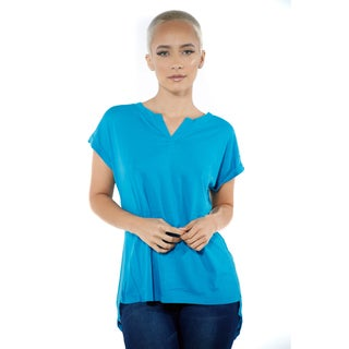 Women's High Low V-neck Chiffon Casual Loose Top
