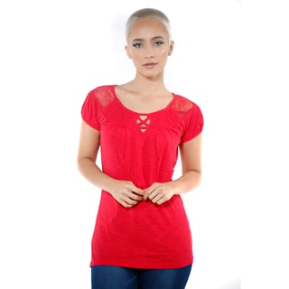Women's Casual Short Sleeve Top (Option: Red)