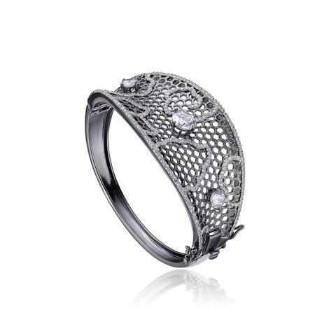Collette Z Sterling Silver Cubic Zirconia Bracelet - Black