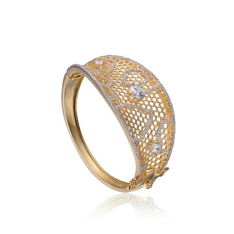 Collette Z Sterling Silver Cubic Zirconia Bracelet - Gold