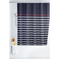 """Wenko Marine Blue 71""""x79"""" Polyester Shower Curtain"""