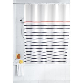 "Wenko Marine White 71""x79"" Polyester Shower Curtain"