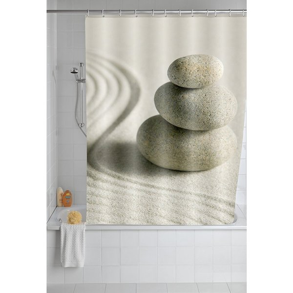 """Wenko Sand and Stone 71""""x79"""" Polyester Shower Curtain"""