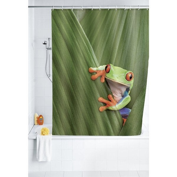 "Wenko Frog 71""x79"" Polyester Shower Curtain"