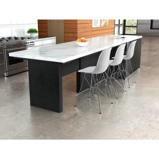 Zip White Counter Chair
