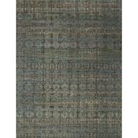 Transitional Bohemian Grey/ Blue Rug - 6'7 x 9'4