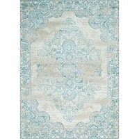 Persian Rugs Ivory/Blue Oriental Area Rug (7'10 x 10'6)