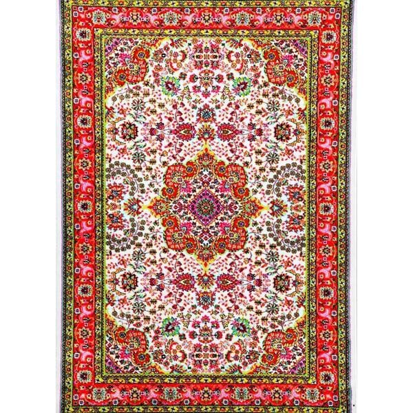 Persian Rugs Modern Trendz Oriental Traditional Multicolored Ivory/ Red Area Rug (7'10 x 10'6)