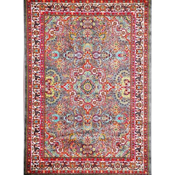 """Persian Rugs Modern Trendz Oriental Traditional Multi Colors Grey Area Rug - Red/Grey - 7'10"""" x 10'6"""""""