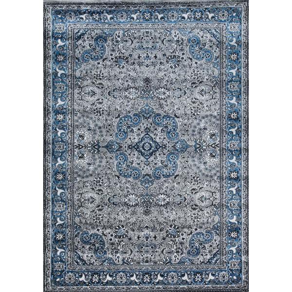 Shop Persian Rugs Modern Trendz Oriental Grey And Blue