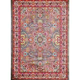 Persian Rugs Modern Trendz Oriental Traditional Red and Grey Area Rug (5'2 x 7'2)