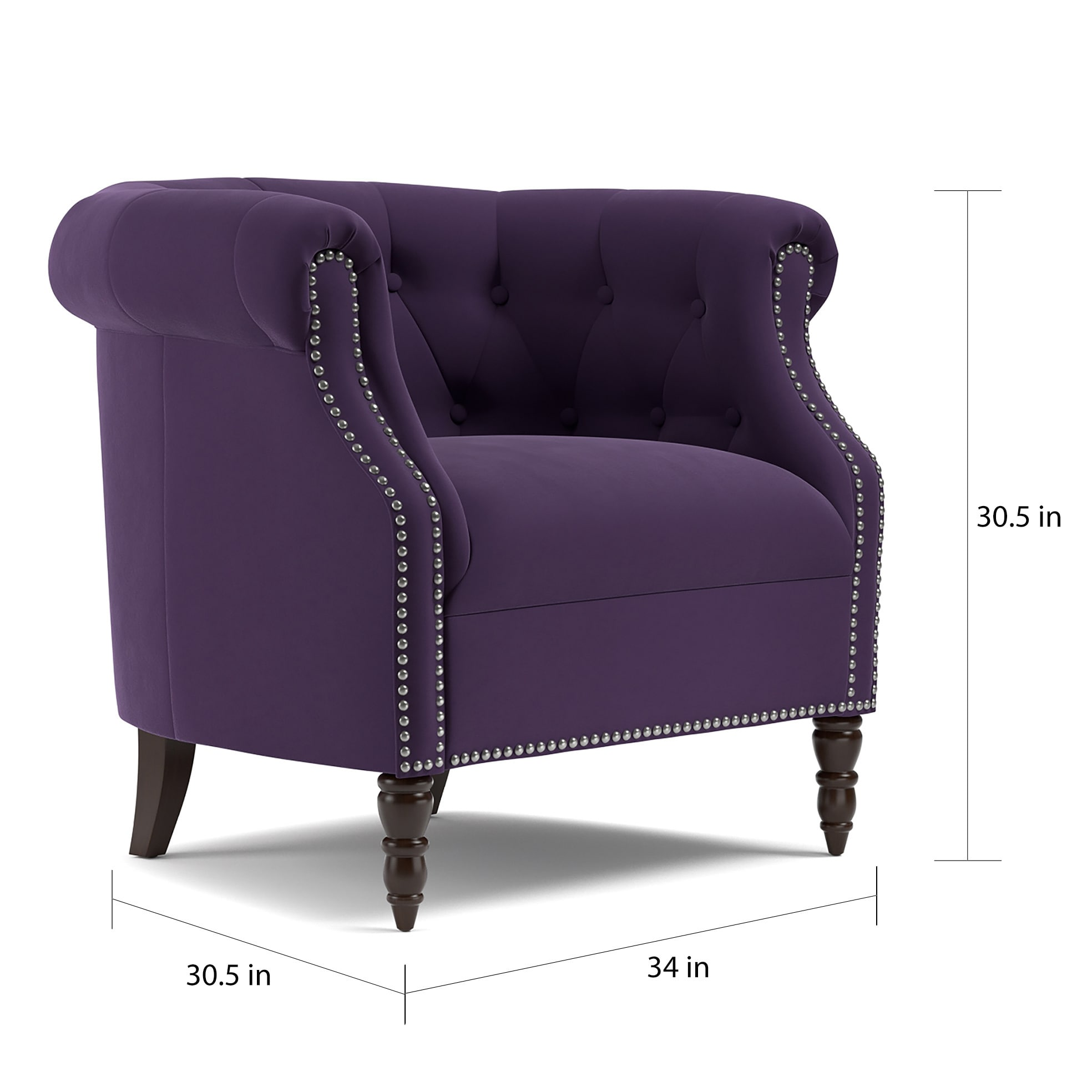 Peachy Copper Grove Muir Chesterfield Plum Purple Velvet Arm Chair Beatyapartments Chair Design Images Beatyapartmentscom