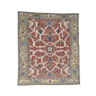 1800GetARug Antique Persian Serapi Heriz Multicolored Wool Handmade Oversize Rug (11'1 x 12'10) - Refurbished