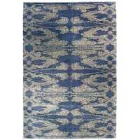 Handknotted Designer Wool Abstract Rug (6'2'' x 8'11'') - 6'2'' x 8'11''