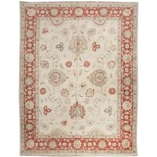 Handknotted Designer Wool Tabriz Rug (6'8'' x 8'5'') - 6'8'' x 8'5''