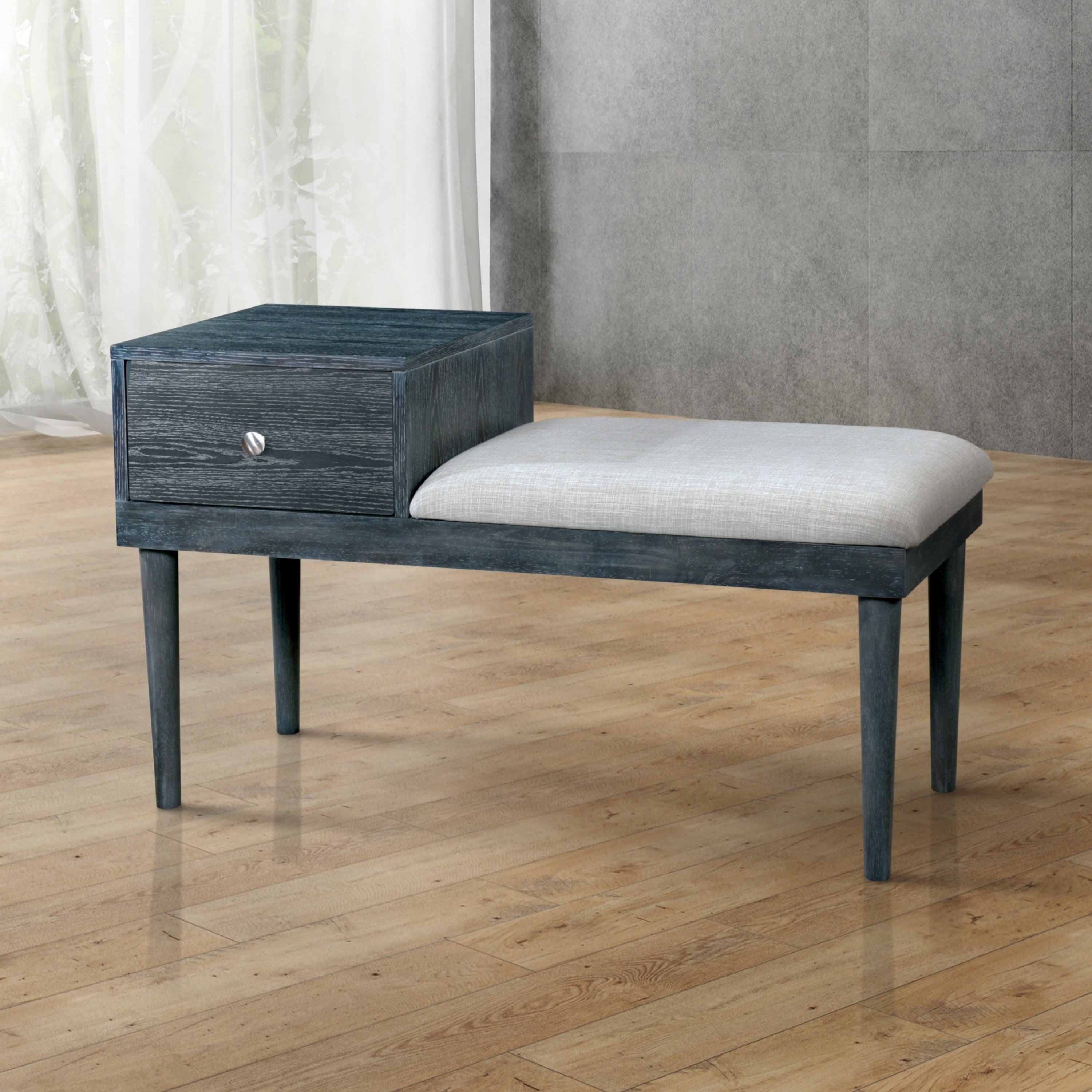 Furniture of America Bereim Contemporary Weathered Grey A...