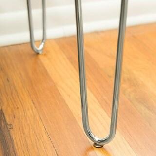 42-inch Hairpin Leg Wood Writing Desk - White