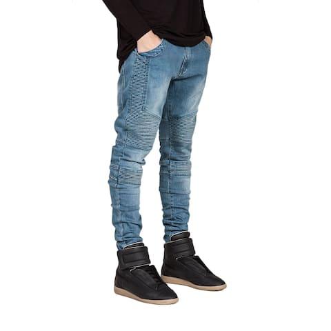Men's Straight Slim Fit Jeans (Blue)
