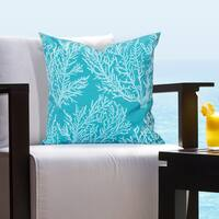 Siscovers Seacoral Indoor - Outdoor Tropical Throw Pillow