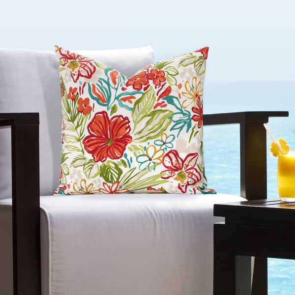 Siscovers Indoor - Outdoor Palm Island Tropical Throw Pillow
