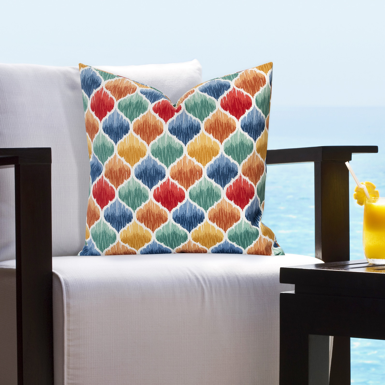 Siscovers Indoor Outdoor Tide Pool Sunset Tropical Throw Pillows