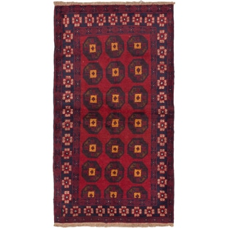 ecarpetgallery Hand-Knotted Baluch Blue, Red Wool Rug (3'8 x 6'3)
