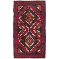 ecarpetgallery Hand-Knotted Kazak Brown, Red Wool Rug (3'6 x 6'2)