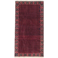 ecarpetgallery Hand-Knotted Herati Blue, Red Wool Rug (3'5 x 6'5)