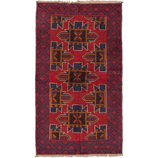 ecarpetgallery Hand-Knotted Kazak Red Wool Rug (3'6 x 5'11)