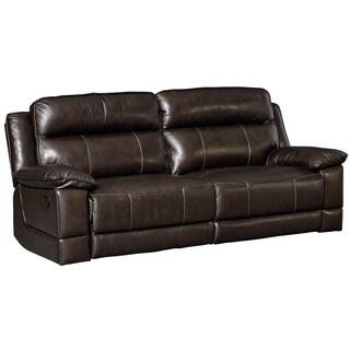 Standard Furniture Sequoia Chocolate Brown Leather Manual Motion Sofa