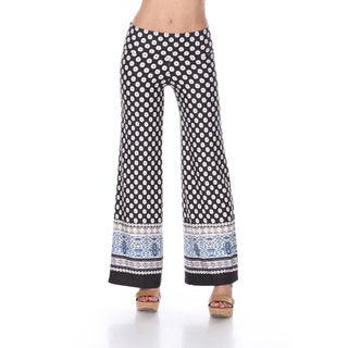 White Mark Border Print Palazzo Pants